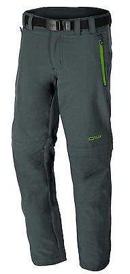F.LLI Campagnolo Boys Hiking Free-time Stretch Pant Trousers grey green