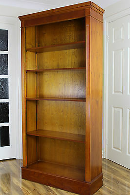 Large Antique Style Reproduction Yew Bookcase