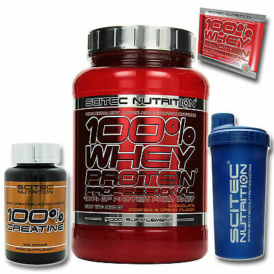 Scitec Nutrition 100% Whey Protein Professional 920g Eiweiss + Shaker & Creatin