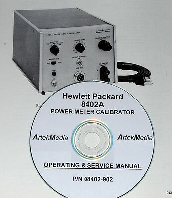 HP 8402A Power Meter Calibrator Operating & Service manual