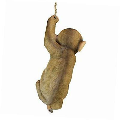Garden Monkey Hanging Statue Chimpanzee Tree Decor Outdoor Lawn Patio Backyard
