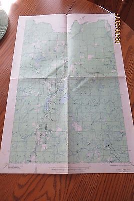 1939 Long Lake  Wis. Usa Dept.of The Interior Geological Survey Map