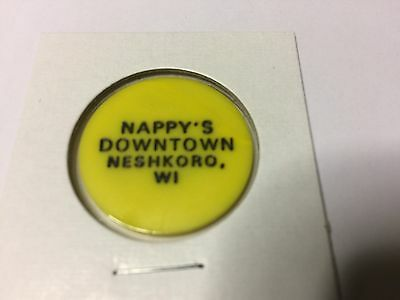Happy's Downtown NESHKORO, WISCONSIN GF Mixed Bar Tavern Token Yellow