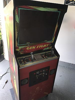 Nice Midway GUN FIGHT 2 Player Video Arcade Game - Classic Black & White Rare