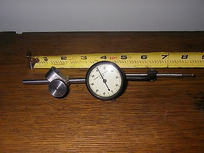 Vintage Dial indicator with mounting set-up 1/1000 Made in USA