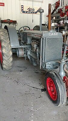 antique tractor J I Case model CC 1937 rare collectors farm row crop