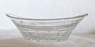 Heisey Glass Crystal Oval Handled Bowl Pat. 2/22/15