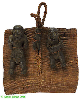 Bamun Raffia Prestige Bag with Guardians Cameroon African Art