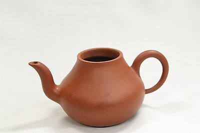 Vintage Chinese Yixing Ear Shaped Handled Traditional Pottery Teapot Signed