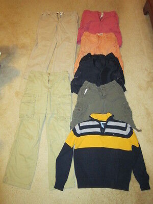Childrens Clothes Lot (4 shorts, 2 pants, 1 sweater) Sizes 8/10/12 adjustable