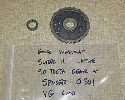 Emco Maximat Super 11 Lathe 90 Tooth Change Gear & Spacer 0501