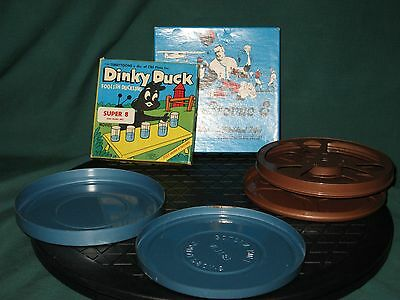 Dinky Duck Super 8 MM Movie & Classic Movie sampler, Metal Cans & Reels Lot EX!!