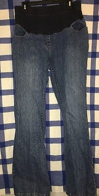 Oh Baby By Motherhood Women's Mid Panel Boot Cut Maternity Jeans Size Large