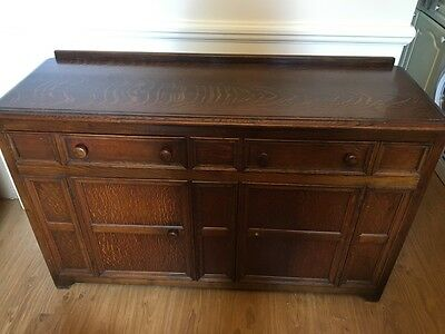 Antique Dark wood Dresser Sideboard/cabinet/ chest of drawers,wide