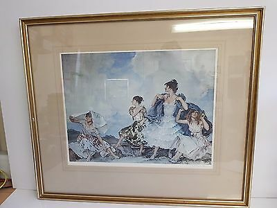 "Sir William Russell Flint - ""The Shower"" Framed, Signed, Limited Edn Print"