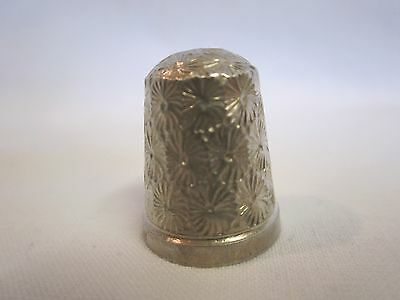 Antique hallmarked London silver thimble Henry Griffith & Sons 1901 size 14