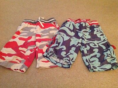 boys mini boden shorts age 5 years x2