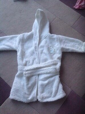 Mothercare Baby Dressing Gown/ Bath Robe.Size Medium, Up To 12 Months.