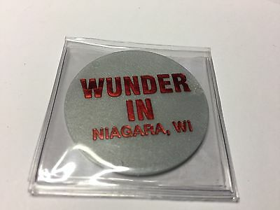 Wunder In NIAGARA, WISCONSIN GF Beer / Mixed Drink Tavern Token Gray