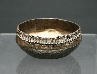 Antique Silver Bowl Spanish Colonial