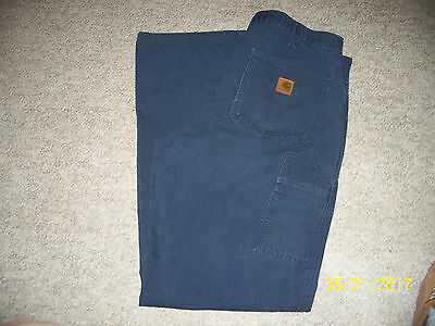 Carhartt Mens Navy Blue Jeans / Pants Dungaree Fit 34 X 34