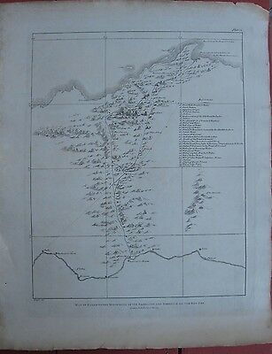 1822 Large G.Belzoni Map - Egypt - Route to the Emerald Mountains and Red Sea