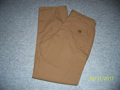 Carhartt New! Brown Mens  Jeans / Pants Dungaree Fit 34 X 34