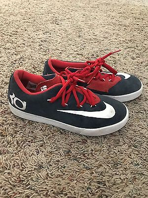 Youth Nike KD shoes sneakers red white blue size 5y