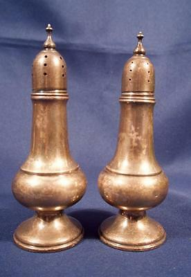 2 Vintage Sterling Silver Salt and Pepper Shakers