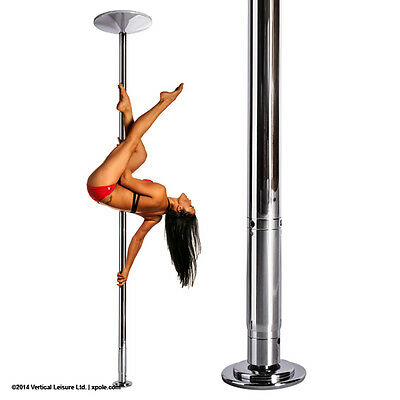 XPole X-PERT 50mm NX Spinning Static Dance Exercise X Pole Set Chrome NEW 2016