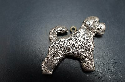 Pewter Metal PORTUGUESE WATER Dog Jewelry Necklace Charm