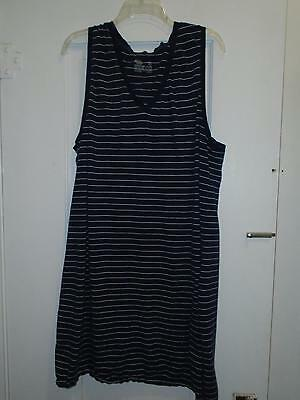 Maternity Nightgown Sz XXL Gilligan & O'Malley Blue Striped Sleeveless