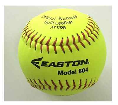 "12 x Easton 11"" Mod Size Match Softball - Easton 804 NEW  : 1 DOZEN"