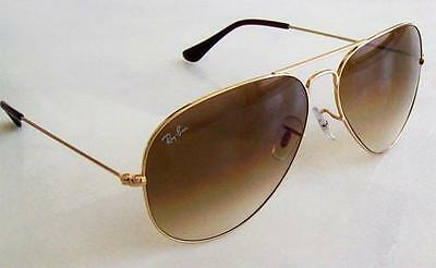 NEW AVIATOR RAY BAN RB3025 001/51( Small)GOLD/BROWN GRADIENT LENS SUNGLASSES55mm