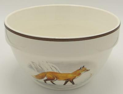 National Wildlife Federation Large Mixing Salad Bowl American Red Fox Stoneware