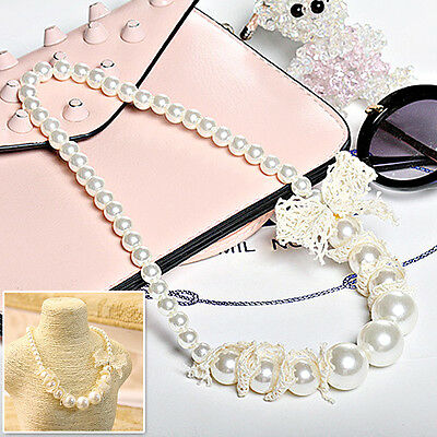Children Kids New Cute Princess Necklace Girls Hot Jewelry Pearl Beads Party