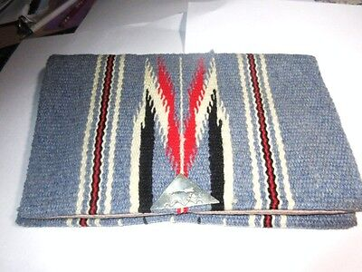Vintage 1940's GANSCRAFT Hand Woven Hand Tailored Wool Chimayo Purse Clutch