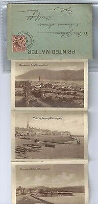 Lettercard Warrenpoint Down 1928 Rostrevor Swimming Baths Omeath Dromore Road