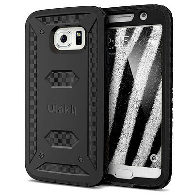 For Samsung Galaxy S6 Heavy Duty Shockproof Rugged Impact Rubber Hard Case Skin