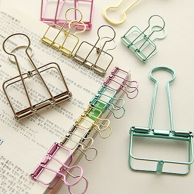 3Pcs Mini Office Stationery Binder Clip Metal Classic Paper Documents Clip Hot