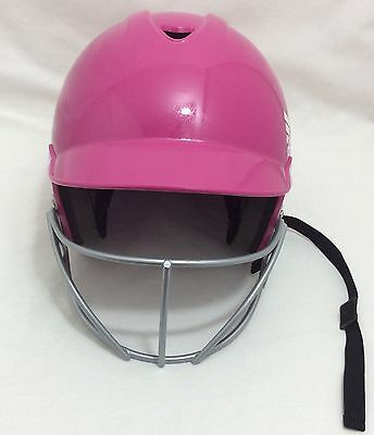 Adidas Pink Softball/baseball Batters Helmet With Face Guard