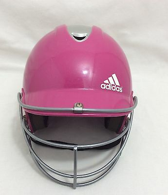 Adidas Pink Climacool Softball/baseball Batters Helmet With Face Guard