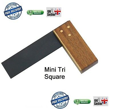 New Mini Hardwood Tri Try Square Carpenters Joiners Woodworking Small Set tools