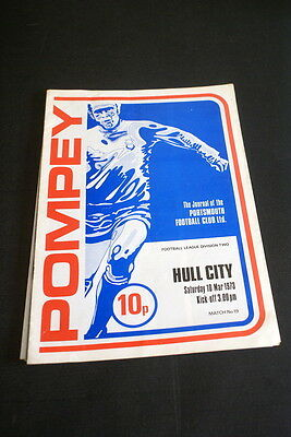 Portsmouth V Hull city 10 March, 1973 Division II