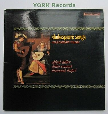 HMU 202 - SHAKESPEARE - Songs & Consort Music ALFRED DELLER - Ex Con LP Record