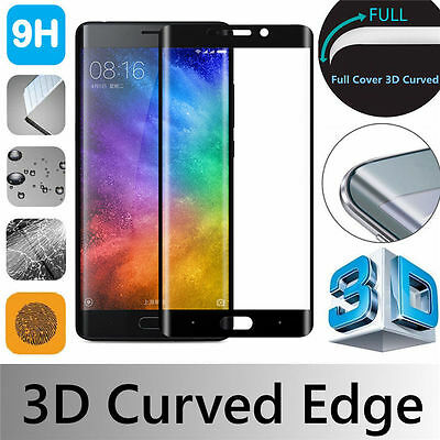 Black 3D Full Cover Gorilla Tempered Glass Screen Protector For Xiaomi Phones