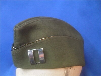WWII US Army Officer's Uniform OD Garrison Cap with Captain's Rank