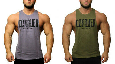 LCS® #2 Muscle Shirt Tank Top Sport Training Gym Bodybuilding Fitness Tuning