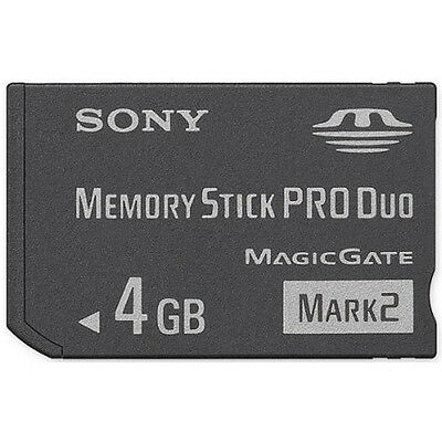 Genuine Sony Memory Stick PRO Duo Memory Card 4GB Mark 2 For PSP Magic Gate