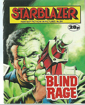 Blind Rage,starblazer Fantasy Fiction In Pictures,no.214,1988,comic